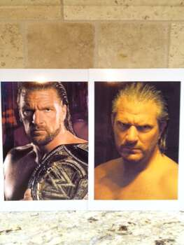 I am sending a picture of myself next to pro wrestler Triple H. People constantly tell me I look like him and kids have even wanted my autograph because they thought I was him. Photo: Andy Garrett, Reader Submission