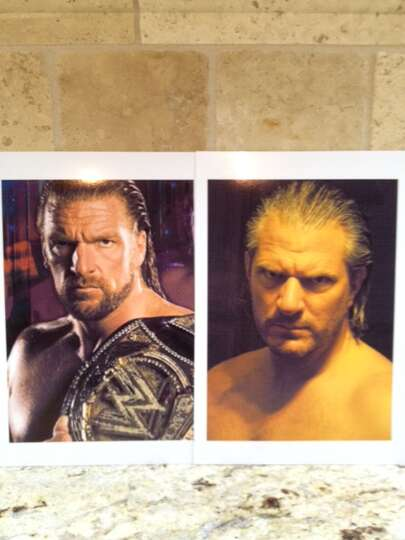 I am sending a picture of myself next to pro wrestler Triple H. People constantly tell me I look lik