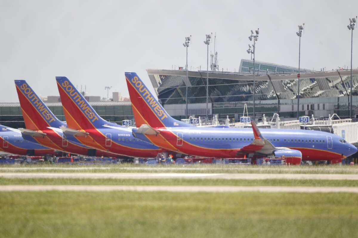 Authorities investigate a bomb threat Monday on Southwest flight #24 flight from El Paso to Hobby Airport in Houston.