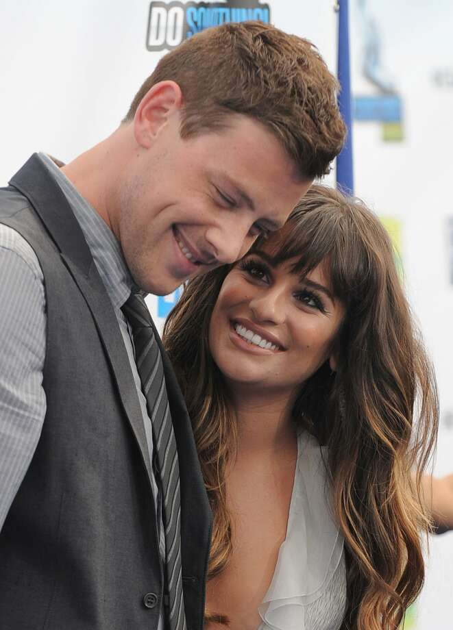 Cory Monteith and Lea Michele attend the 2012 Do Something awards on Sunday, Aug. 19, 2012 in Santa Monica, Calif.  (Jordan Strauss / Associated Press)