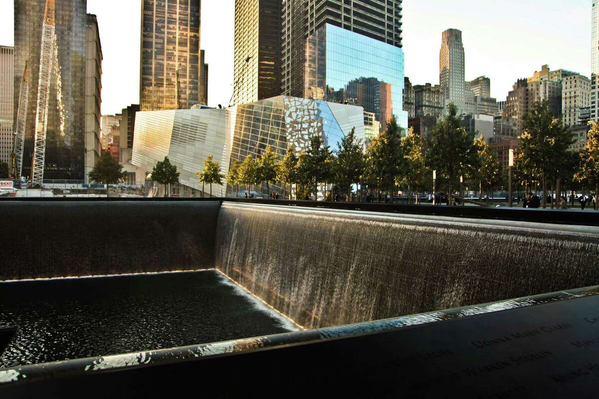 The North Pool of the National September 11 Memorial & Museum in New York City. Pitney Bowes has been named the museum's global partner of the year.
