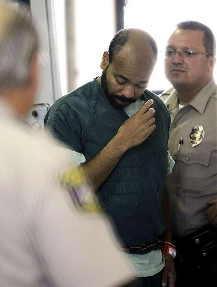 Kariem McFarlin arrives for a hearing at Santa Clara County Superior Court in San Jose. Photo: Paul Sakuma, Associated Press