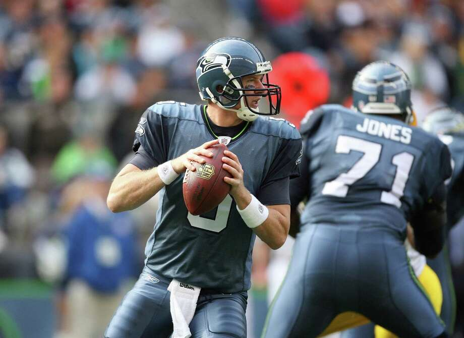 Charlie Frye, 2007-2008: Frye started one game for the Hawks during the 2008 season. He finished his career the following year in Oakland. His career quarterback rating is 69.7. Photo: Otto Greule Jr, Getty Images / 2008 Getty Images