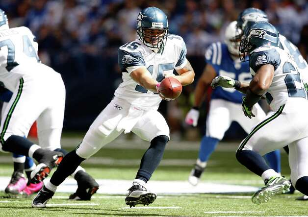 Seneca Wallace, 2003-2009 – A backup to Matt Hasselbeck through the best years in the club's history, Wallace took a leading role in the lackluster 2008 season when Hasselbeck was saddled with injuries. Wallace is now with the Cleveland Browns. His career QB rating is 65.4. Photo: Andy Lyons, Getty Images / 2009 Getty Images