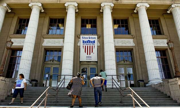 Stockton is one of three California cities to file for bankruptcy this year. Photo: Michael Macor, The Chronicle