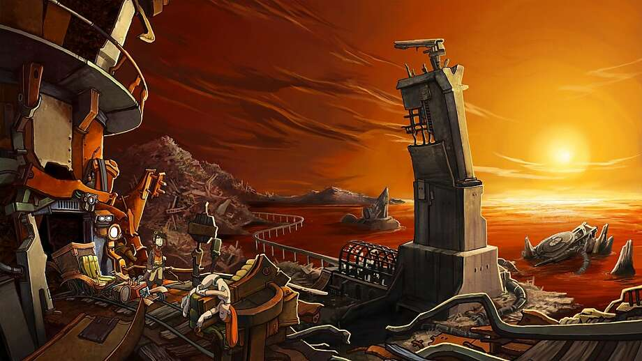 """Deponia,"" a delightful indie Western adventure, takes place in a sci-fi ghost town. Although wonderfully drawn, the background scenes tend to be static. Photo: Daedalic Entertainment"