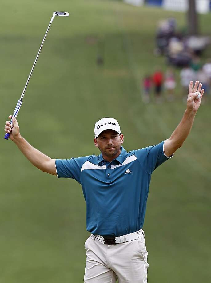 Spain's Sergio Garcia exults after winning the delayed PGA event in Greensboro, N.C. Photo: Gerry Broome, Associated Press