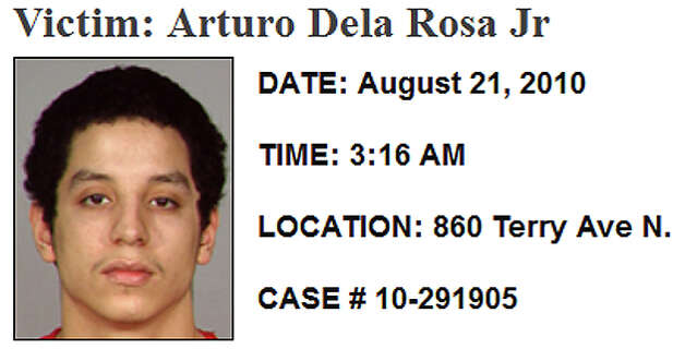 Aug. 21, 2010, Arturo Delarosa-Martinez: Delarosa-Martinez was shot to death after attending a Quinceanera party at the Center for Wooden Boats hall in South Lake Union. Homicide detectives have said it was gang related, and one of the two men who feuded with Delarosa-Martinez shortly before his death also was investigated for two other homicides. Delarosa-Martinez had been beaten, was shot once in the head and found about 3:20 a.m. in a fenced-off area of the 1000 block of Valley Street. (Police have identified him as Arturo Dela Rosa Jr., though the King County Medical Examiner identify him as Delarosa-Martinez.) Read more here. Photo: SPD