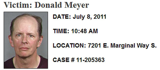 July 8, 2011, Donald Meyer: Neither police nor the medical examiner could determine exactly when Meyer died, but his dismembered body was found July 8 at the CDL Recycling plant in the 7200 block of East Marginal Way South. His cell phone hadn't been used since June 17, the last day anyone saw him. Investigators determined his body had been dumped less than a block from his apartment and reported that a neighbor said a man who had recently lived with Meyer was upset with his marijuana use. Investigators said that when they searched the apartment there was a fresh paint smell and pieces of masking tape along the baseboard trim. CSI detectives used a chemical process to find blood stains not visible to the naked eye on the bathroom floor and counter, and a bloody footprint trail to the kitchen sink. That roommate hasn't been arrested or named as a suspect. Read more here. Photo: SPD