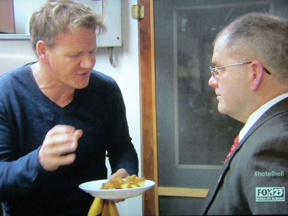 """The Cambridge Hotel was featured on Gordon Ramsay's """"Hotel Hell"""" TV series on Fox Television on Monday, Aug. 20. Despite rave reviews and an increase in business following Ramsay's makeover, the hotel closed in June. Photo: Fox Television"""