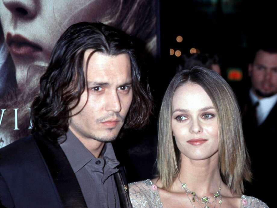 Then Johnny Depp married Vanessa Paradis. But they've recently split up. Photo, from 1999, by Getty Images.