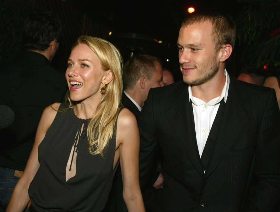 "The late Heath Ledger will always be remembered as Michelle Williams' partner and father of her child. But before he was with Williams, he dated Naomi Watts. They're pictured in 2002 at ""The Ring"" premiere.  (Getty Images)"
