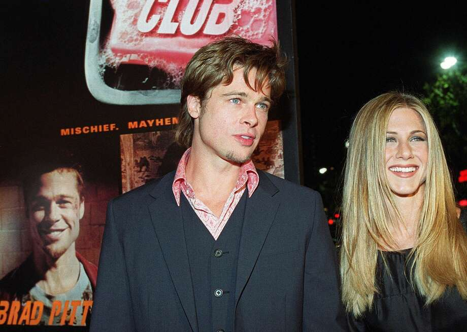 "No surprise memory here, of once ubiquitous power couple Brad Pitt and Jennifer Aniston (pictured at the 1999 ""Fight Club"" premiere). But do you remember when Brad Pitt was with ... (AFP/Getty Images)"