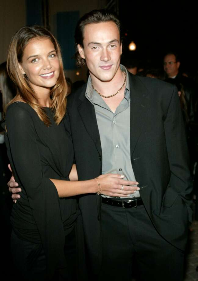 "Tom who? Before Katie Holmes married couch jumper Tom Cruise, she dated Chris Klein. Photo is from the 2002 premiere of ""Abandon.""  (Getty Images)"