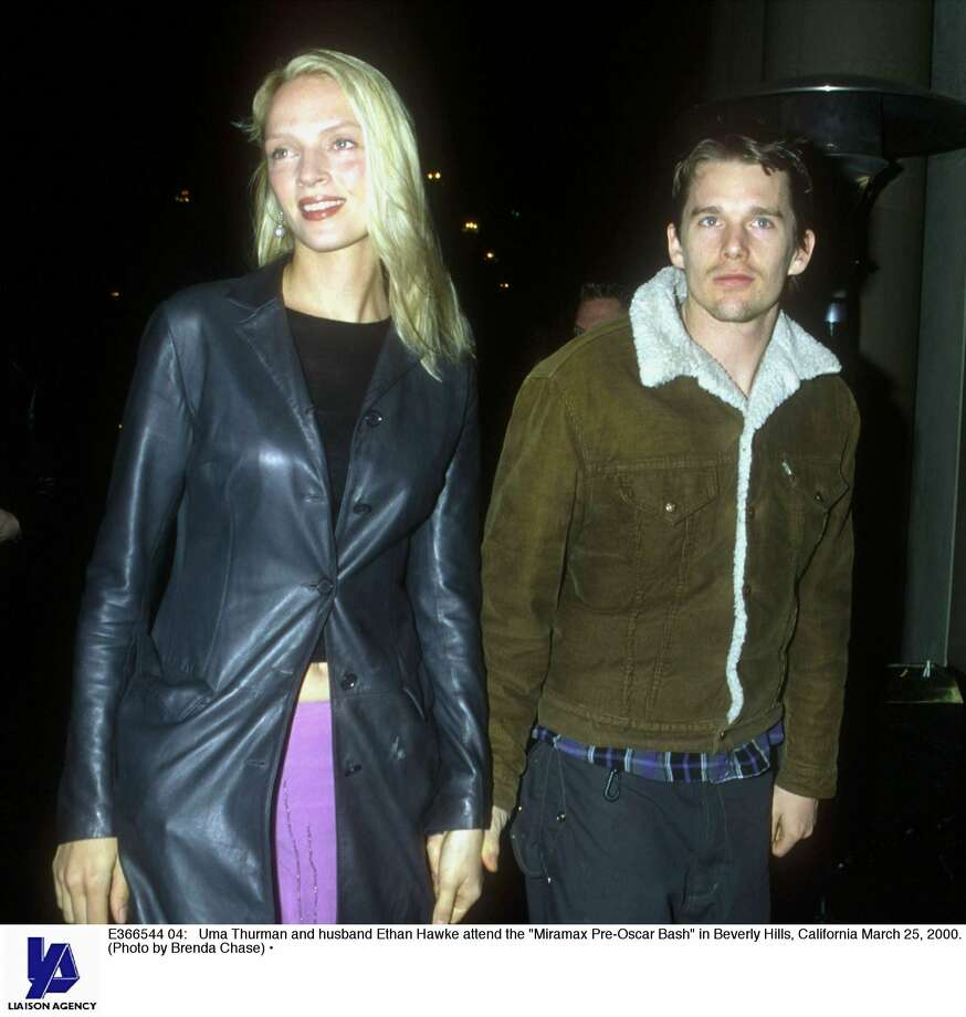 Uma Thurman and Ethan Hawke were another shortish guy and willowy woman from the '90s.  (Getty Images)