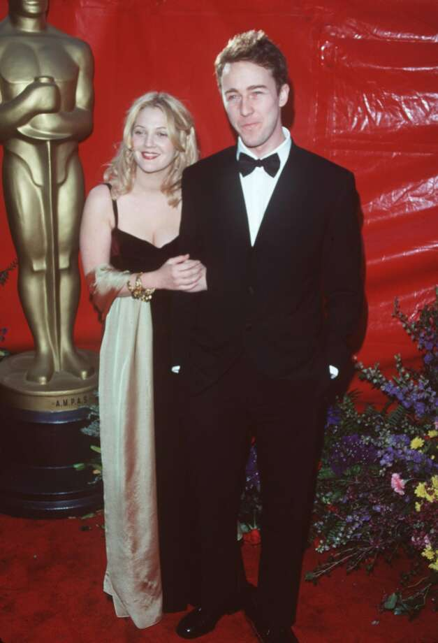 Drew Barrymore with rumored boyfriend of 1999, Edward Norton.  (Getty Images)