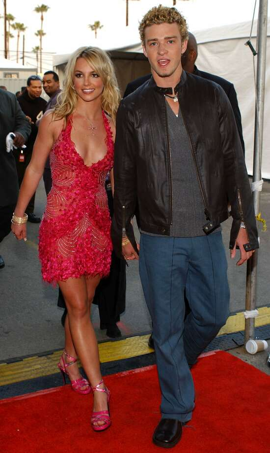 Young love no more: Britney Spears and Justin Timberlake, at the 2002 American Music Awards.  (AFP/Getty Images)