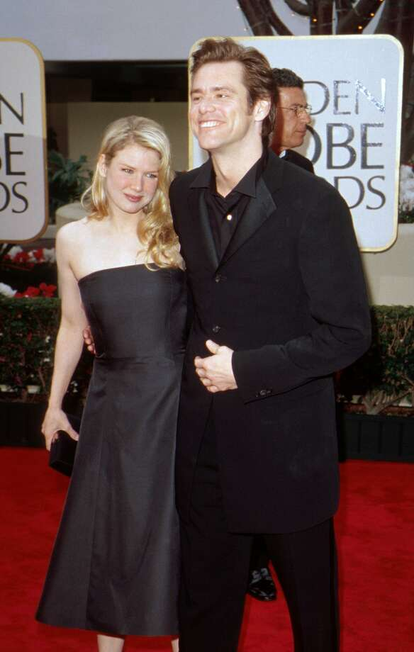 Not so young, and a little bit odd: Renee Zellweger and Jim Carrey in 2000.  (Getty Images)