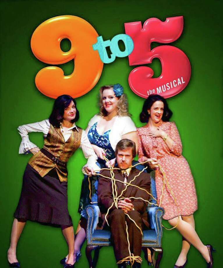 """The Woodlawn Theatre's """"9 to 5"""" features (clockwise from left)  Melissa Gonzalez, Sara Brookes, Mary Morrow and Kurt Wehner. Photo: Courtesy, Allison Newsom"""