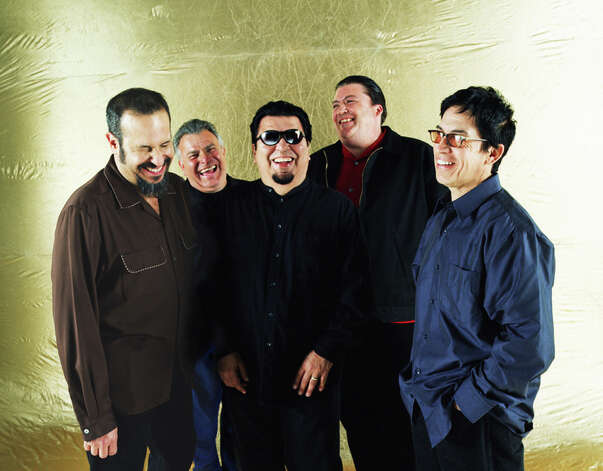 Los Lobos are Steve Berlin, from left, Conrad Lozano, Cesar Rosas, David Hidalgo and Louie Perez. Photo: Courtesy Photo