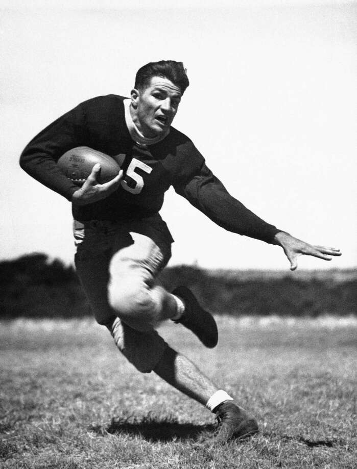 Quarterback Sammy Baugh was TCU's first superstar. Baugh played in the NFL from 1937-52, leading the Washington Redskins to two NFL titles, and he was inducted into the Pro Football Hall of Fame's first class in 1963. Photo: JFL, AP / AP