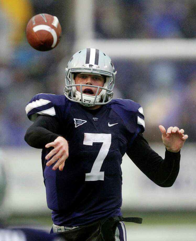 Kansas State quarterback Collin Klein and the Wildcats are hoping their 10-3 record in 2011 is a sign that more improvement will be found in 2012. Orlin Wagner/Associated Press Photo: Orlin Wagner, Associated Press / AP