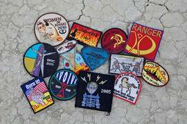 "Images of patches collected over the years by Burning Man attendees. They are specially designed and used as ""currency"" during the event, and are highly coveted."