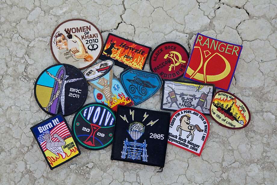 Patches have become a highly coveted item at Burning Man, but don't show up with a wad of cash expecting to get one. Photo: Sidney Erthal
