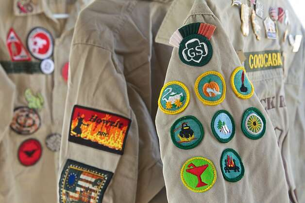 "Images of patches collected over the years by Burning Man attendees. They are specially designed and used as ""currency"" during the event, and are highly coveted. Photo: Sidney Erthal"