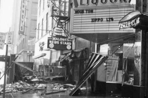 Downtown Houston following Hurricane Carla, Sept. 1961