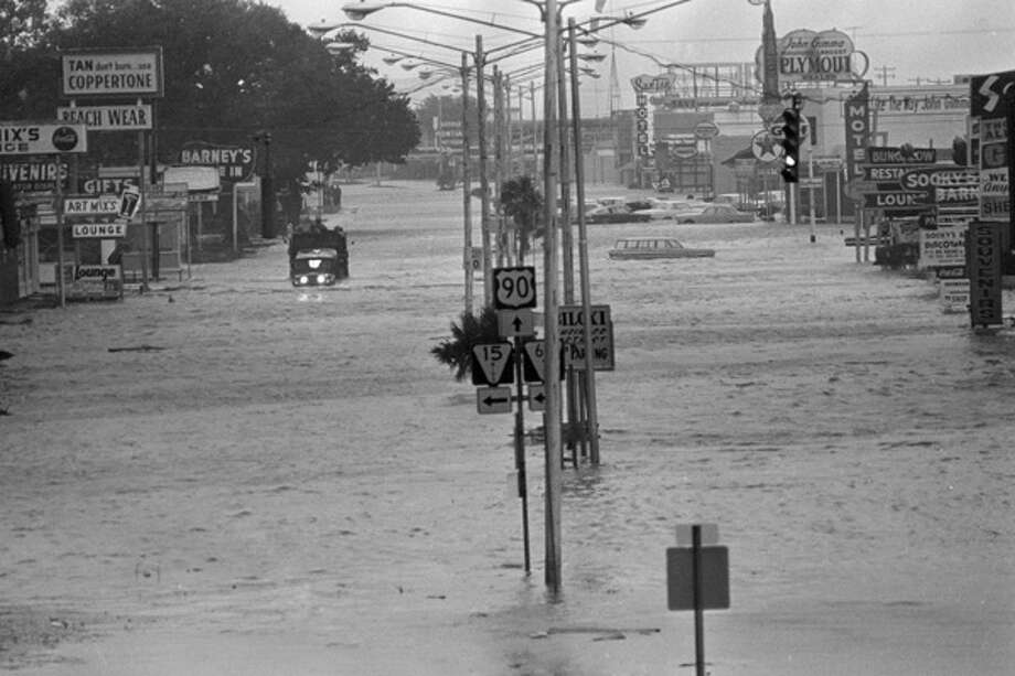 Hurricane Betsy flooded Biloxi, Miss., Sept. 10, 1965. The storm would cost $20 billion in insured losses if it happened today. 