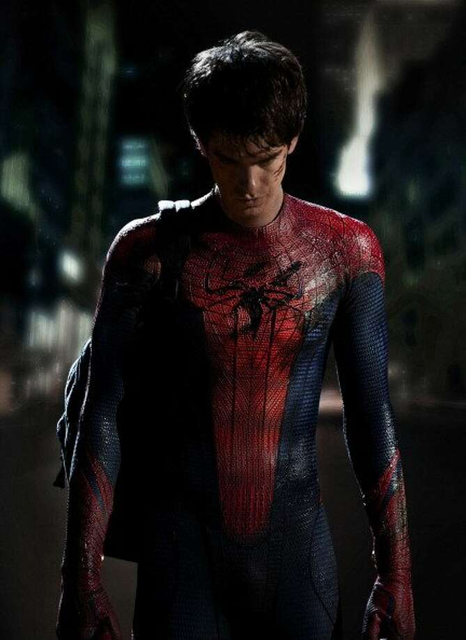 "50-years of Spider-Man- The web-flying superhero made his first debut in the comic book ""Amazing Fantasy."" Pictured in this photo is the latest actor to play Spider-Man on the big screen, Andrew Garfield. The film was released the summer of 2012. (John Schwartzman / Getty Images)"