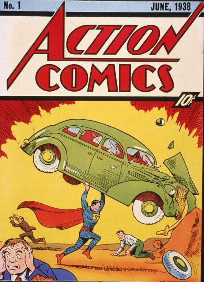 "74-years of Superman- The man of steel who has managed to save a city and fall in love made his first appearance in ""Action Comics #1,"" on April 18, 1938. Pictured is the cover illustration of the comic book ""Action Comics No. "" which featured the first appearance of the character Superman, June 1938. (Hulton Archive / Getty Images)"