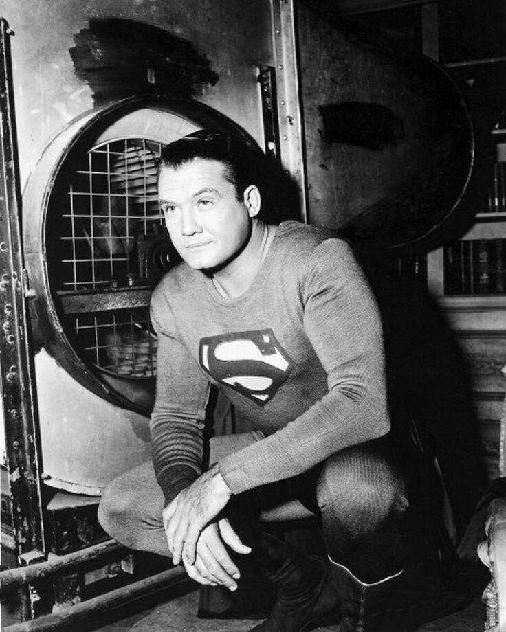"74-years of Superman- The man of steel who has managed to save a city and fall in love made his first appearance in ""Action Comics #1,"" on April 18, 1938. File photo, George Reeves (1914-1959), in costume for the television series, 'Adventures of Superman', circa 1955. The comic book adaptation, featuring the DC Comics character, starred Reeves as the 'man of steel.'  (Getty Images)"