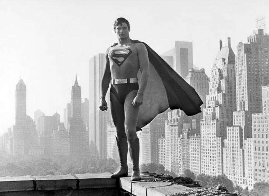 "74-years of Superman- The man of steel who has managed to save a city and fall in love made his first appearance in ""Action Comics #1,"" on April 18, 1938. Most recognized for his role as ""Superman"" American actor Christopher Reeve (1952-2004) is pictured here against a New York City backdrop, circa 1980. (Bob Thomas / Popperfoto/Getty Images)"