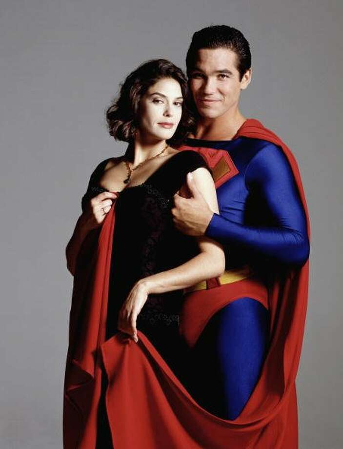 "74-years of Superman- The man of steel who has managed to save a city and fall in love made his first appearance in ""Action Comics #1,"" on April 18, 1938. In this photo Actress Teri Hatcher as Superman's love interest Lois Lane, and Dean Cain as the man of steel, appearing in ""Louis & Clark: The New Adventures of Superman,"" on August 16, 1994.  (ABC via Getty Images)"