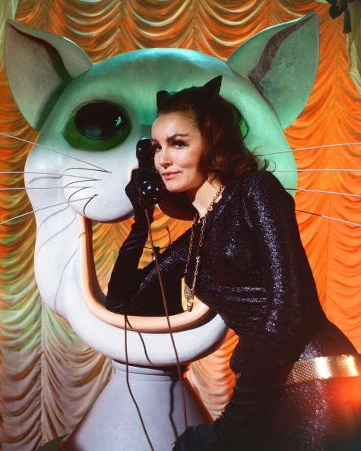 "72-years of Cat Woman- The feline character made her first debut in the comic book ""Batman"" in the Spring of 1940. American actress Julie Newmar as Catwoman in the 'Batman' TV series, circa 1966.  (Silver Screen Collection / Getty Images)"