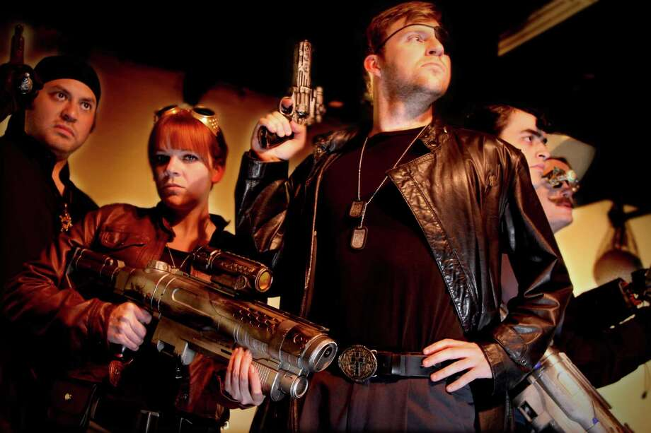 """The third season of """"The Adventures of Captain Cortez and the Tri-Lambda Brigade"""" -- featuring, from left, Robert Jerdee, Morgan Clyde, Michael Burger, Alex Berkowitz and Dru Barcus -- begins in August at the Overtime Theater. Courtesy Bryan Ortiz Photo: Courtesy Bryan Ortiz"""