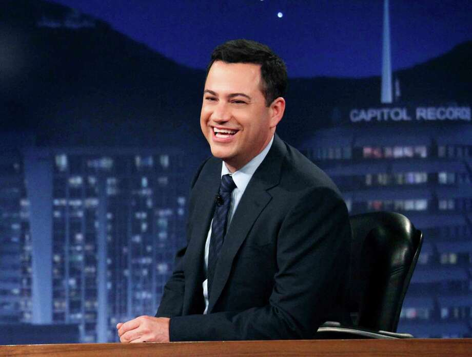 """Jimmy Kimmel- """"starting to get windy here in #Brooklyn...I hope our shows don't fly away"""" Photo: Richard Cartwright / American Broadcasting Companies,"""