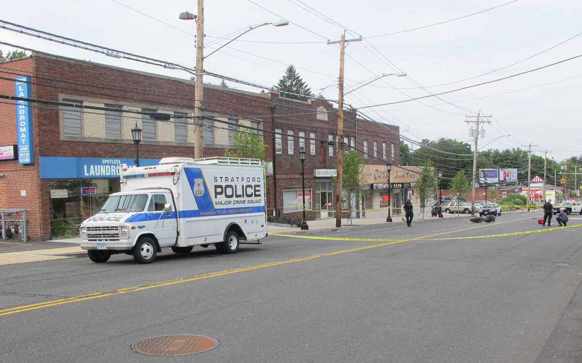 A motorcyclist was critically injured in a hit-and-run crash on Barnum Avenue in Stratford, Conn. on Tuesday, August 21, 2012, police said.