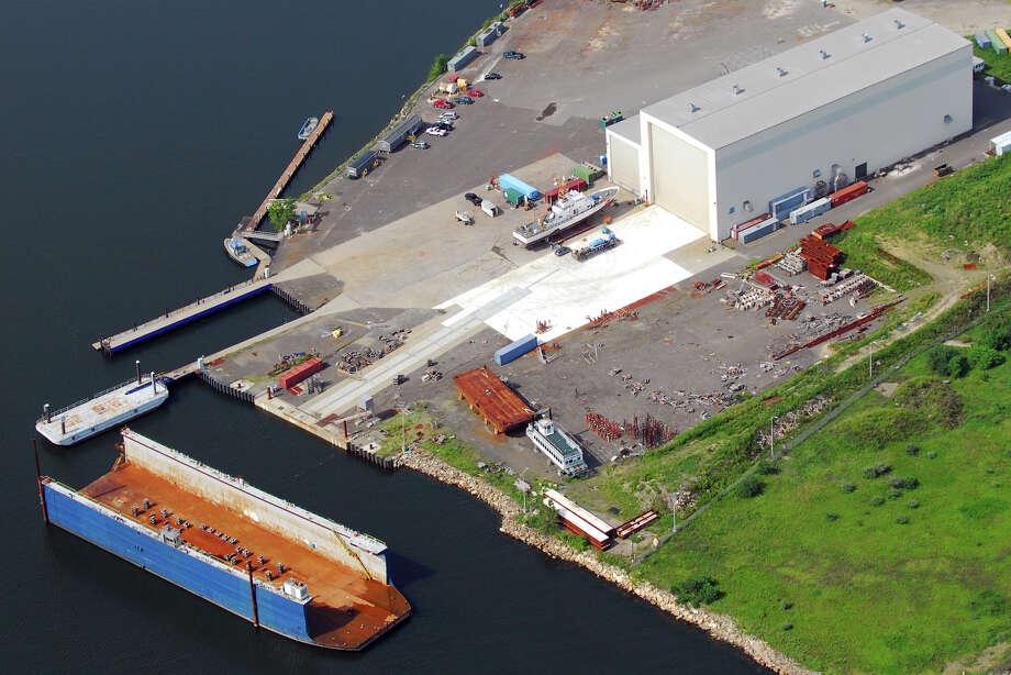 J. Goodison, a Rhode Island-based marine industrial maintenance and repair contractor, will begin using the former Derecktor shipyard, in Bridgeport, Conn., seen here Aug. 21st, 2012. Morgan Kaolian AEROPIX Photo: Morgan Kaolian AEROPIX / Morgan Kaolian AEROPIX