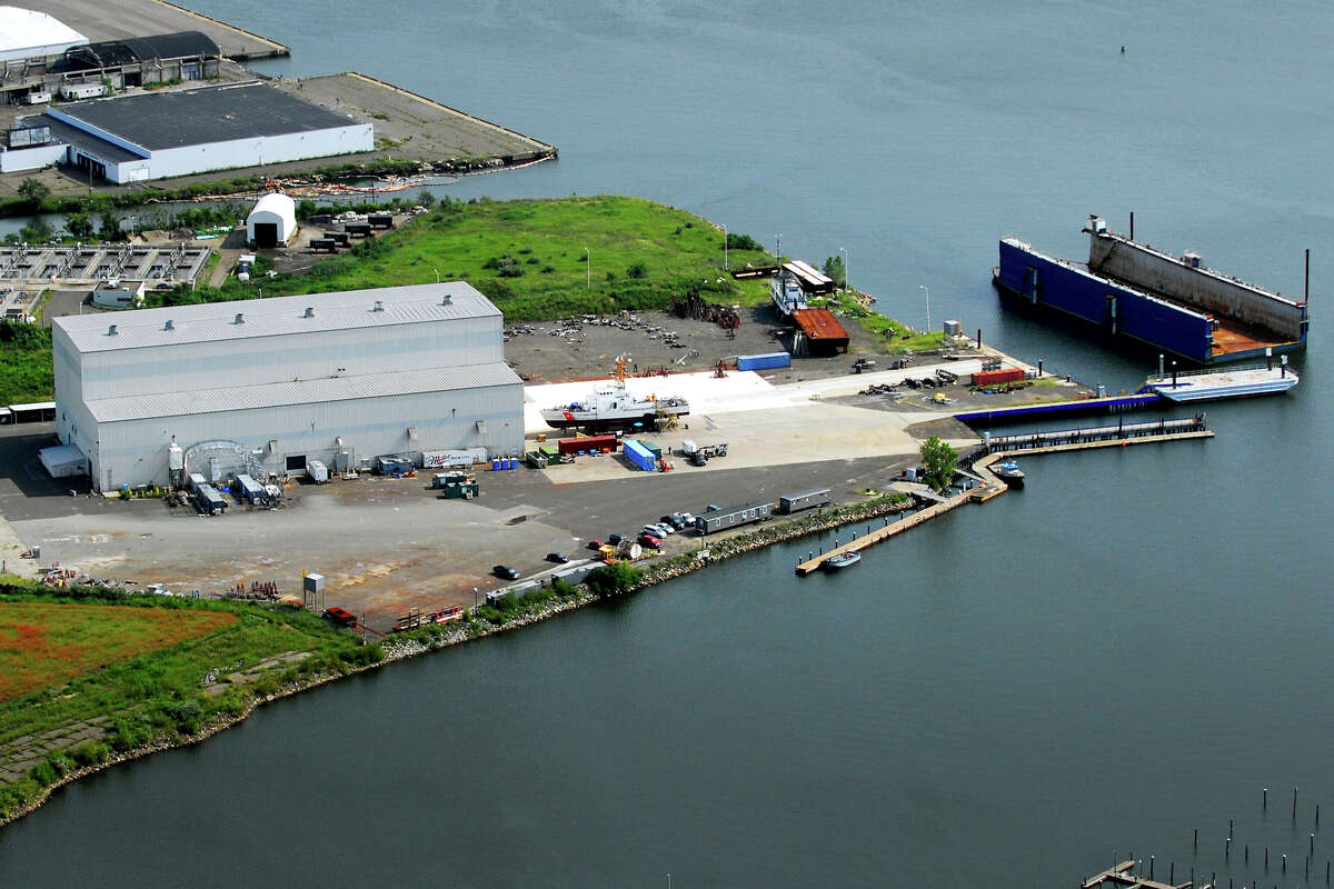 J. Goodison, a Rhode Island-based marine industrial maintenance and repair contractor, will begin using the former Derecktor shipyard, in Bridgeport, Conn., seen here Aug. 21st, 2012. Morgan Kaolian AEROPIX