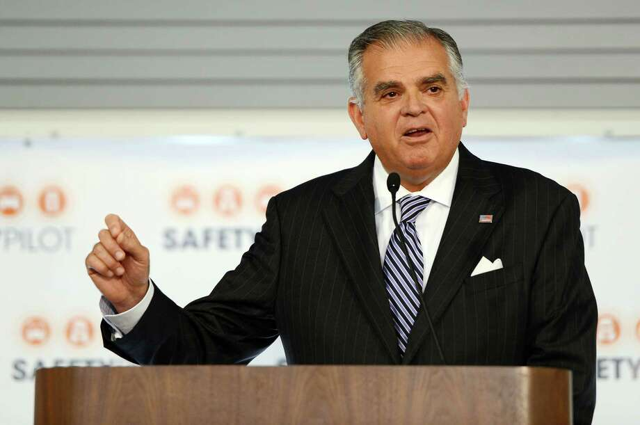 U.S. Dept. of Transportation Secretary Ray LaHood speaks during a news conference to launch the deployment of the U.S. Department of Transportation's Connected Vehicle Safety Pilot at University of Michigan Transportation Research Institute in Ann Arbor, Mich.  on Tuesday, Aug. 20, 2012. (AP Photo/AnnAbor.Com, Melanie Maxwell) Photo: Melanie Maxwell / AnnArbor.com