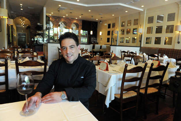 Aldo Chiamulera at his restaurant Cesco's Trattoria in Darien, Conn., August 2, 2012. Photo: Keelin Daly / Stamford Advocate