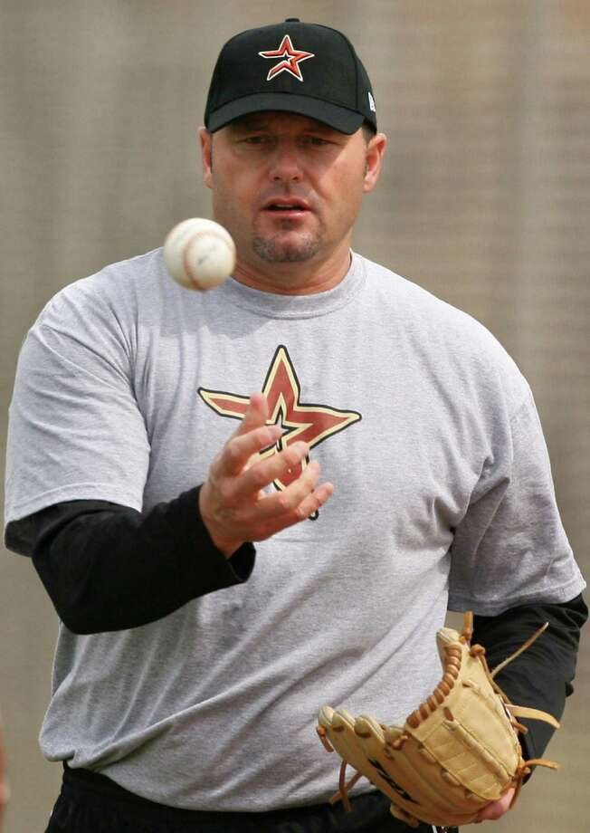 Roger Clemens was on the field with the Astros minor leaguers at spring training as recently as 2008. Photo: Stephen M. Dowell / Orlando Sentinel