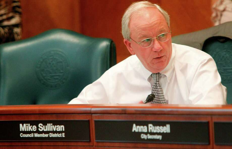City of Houston District E Councilman Mike Sullivan in Council Chambers at City Hall on Wednesday, Aug. 8, 2012, in Houston. ( Mayra Beltran / Houston Chronicle ) Photo: Mayra Beltran / © 2012 Houston Chronicle