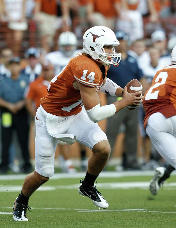 Mack Brown releasing the depth chart confirms that sophomore David Ash is tentatively the Longhorns' starting quarterback. Photo: Eric Gay / AP