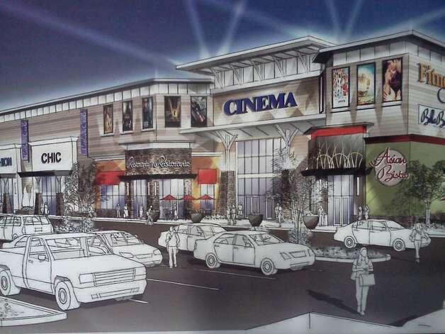 A rendering of the proposed Shoppes at Latham Circle, a redevelopment plan that would replace Latham Circle Mall.