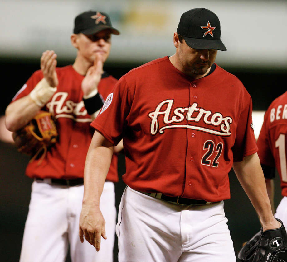 Former Astros teammates Craig Biggio, left, and Roger Clemens will be on the Hall of Fame ballot for the first time this winter. Photo: MELISSA PHILLIP / Houston Chronicle