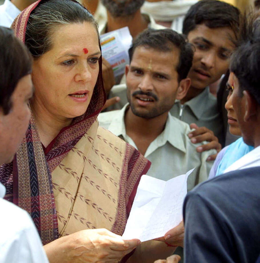 6. President of the Congress Party Sonia Gandh Photo: RAJESH KUMAR SINGH, . / AP